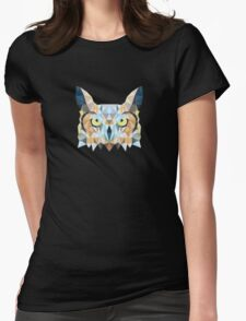 Low poly owl Womens Fitted T-Shirt
