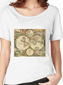 Map of the World (1689) Women's Relaxed Fit T-Shirt