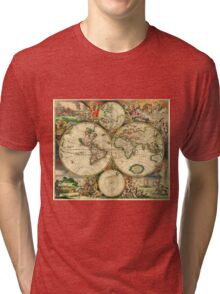 Map of the World (1689) Tri-blend T-Shirt