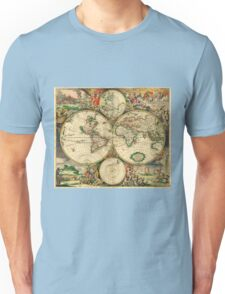 Map of the World (1689) Unisex T-Shirt