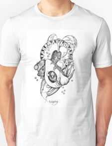 Avocado and Veg Mandala Medley Unisex T-Shirt