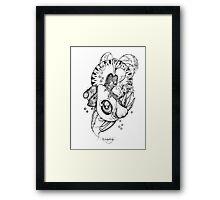 Avocado and Veg Mandala Medley Framed Print