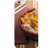 One serving of rice vermicelli hu-teu with vegetables iPhone Case/Skin