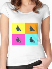 Butterfly on colours (1) Women's Fitted Scoop T-Shirt