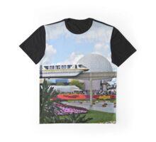 Monorail Through Future World Graphic T-Shirt