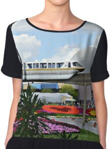 Monorail Through Future World Chiffon Top