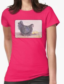 Cluck Cluck Womens Fitted T-Shirt