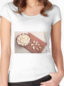 Top view of breakfast for raw foodists Women's Fitted Scoop T-Shirt