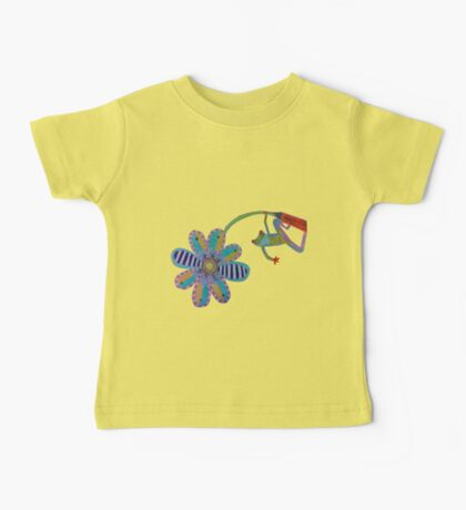 froggy flower Baby Tee