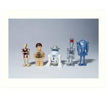 The droids you are looking for Art Print