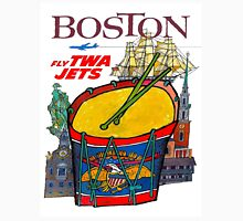 """TWA AIRLINES"" Fly to Boston Advertising Print Unisex T-Shirt"
