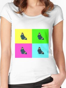 Butterfly on colours (2) Women's Fitted Scoop T-Shirt