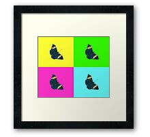 Butterfly on colours (2) Framed Print