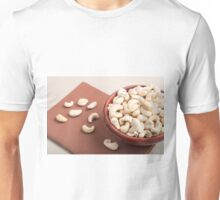 Close Up view on raw cashew nuts for vegetarian food Unisex T-Shirt