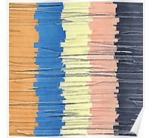 Textured Stripes Abstract Poster