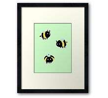 Bumble Bees! Framed Print