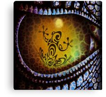 Reptile reflection in the Dragon's eye! Canvas Print