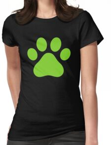 Miraculous Ladybug : Chat Noir Paw Womens Fitted T-Shirt