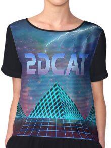 2dcat graphic shirt Chiffon Top
