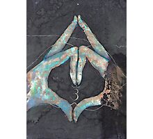 Ajna - third eye chakra mudra  Photographic Print