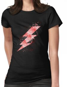 Flash lightning bolt  Womens Fitted T-Shirt