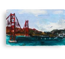 Golden Gate Bridge San Francisco Acrylic Painting Fine Art Canvas Print