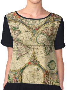 Map of the World (1689) Chiffon Top