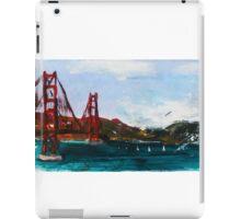 Golden Gate Bridge San Francisco Acrylic Painting Fine Art iPad Case/Skin