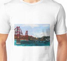 Golden Gate Bridge San Francisco Acrylic Painting Fine Art Unisex T-Shirt