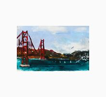 Golden Gate Bridge San Francisco Acrylic Painting Fine Art Unisex T-Shirt