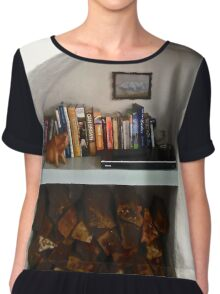 Nook for books and firewood Chiffon Top