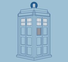 Vanishing TARDIS Outline Kids Tee