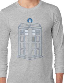 Vanishing TARDIS Outline Long Sleeve T-Shirt