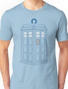 Vanishing TARDIS Outline Unisex T-Shirt