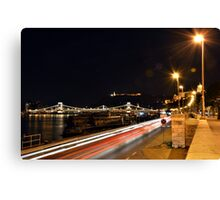 Budapest Night Lights Canvas Print