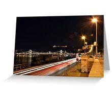Budapest Night Lights Greeting Card