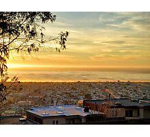 Yellow Sunset Photographic Print