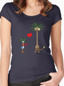 Tropical Love Women's Fitted Scoop T-Shirt