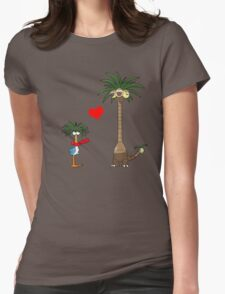 Tropical Love Womens Fitted T-Shirt