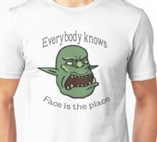 Face is the place Unisex T-Shirt