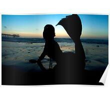 Mermaid Silhouette  Poster