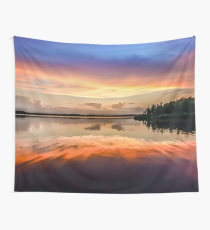 Sunset Symmetry Wall Tapestry