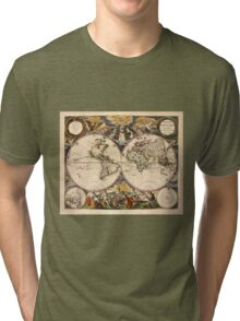 Map of the World (1672) Tri-blend T-Shirt