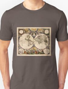 Map of the World (1672) Unisex T-Shirt