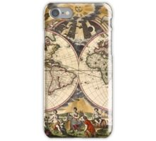 Map of the World (1672) iPhone Case/Skin