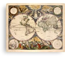 Map of the World (1672) Metal Print