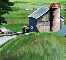 Southern Ohio Countryside landscape painting by LindaAppleArt