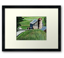 Southern Ohio Countryside landscape painting Framed Print