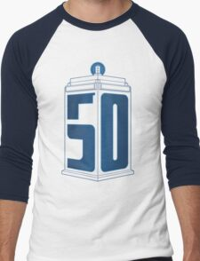 50th Anniversary TARDIS Men's Baseball ¾ T-Shirt