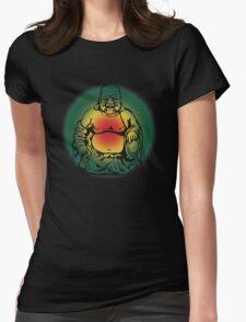 Rasta Buddha Womens Fitted T-Shirt